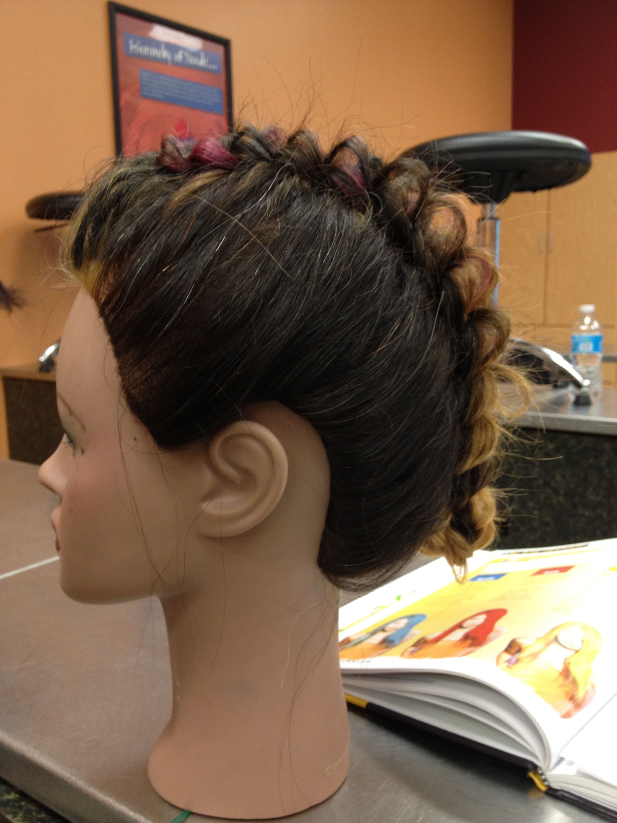 My attempt at the mohawk braid hair uc pinterest mohawks