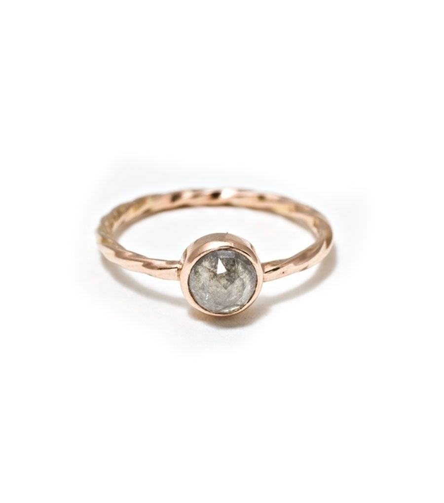 World Ring Rose cut diamond ring from india. untreated diamond with grey flecks. so amazing i could cry