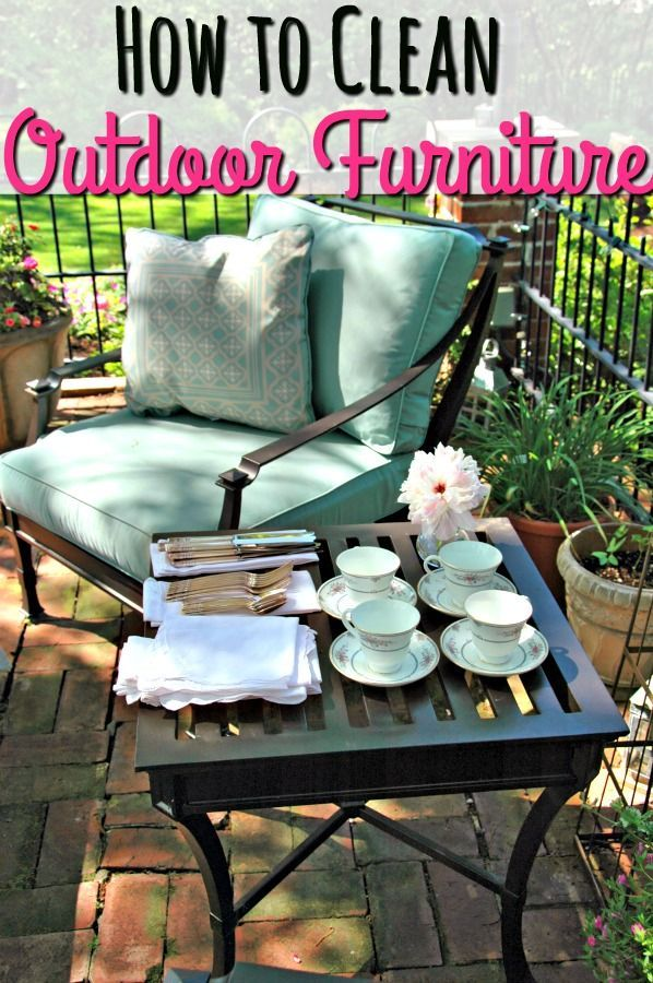 How To Clean Outdoor Furniture {Without Going Broke}