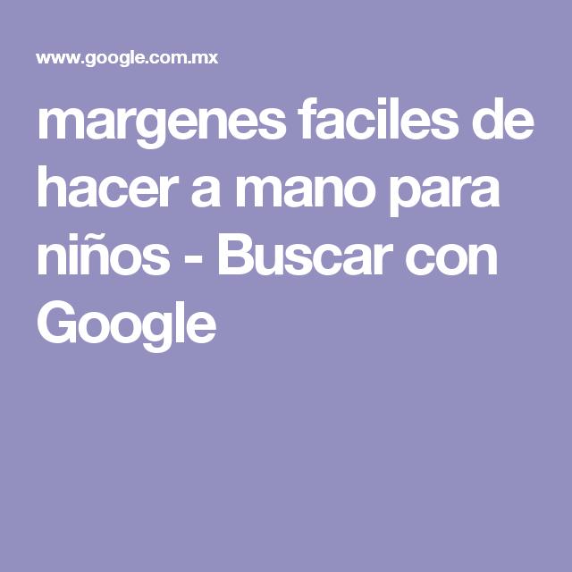 margenes faciles de hacer a mano para niños - Buscar con Google