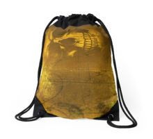 Golden Skull Drawstring Bag by Scar Design #totebag #buytotebag #bag #gifts #buygifts #giftsforher #groceries #shopping #shoppingbag #buybag #buytotebag #cool #coolgifts #accessories #womenaccessories #beachtotebag #beach #beachbag #summer #summergifts #summerbag #skull #gothic #gothicbag