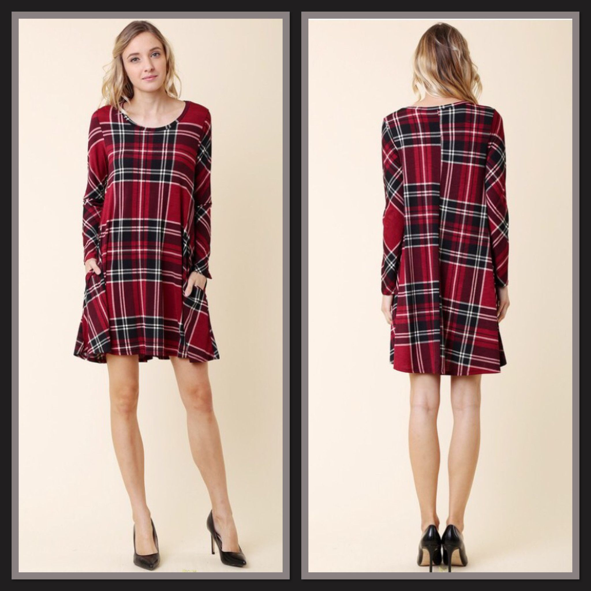 Plaid Comfort Swing Dress