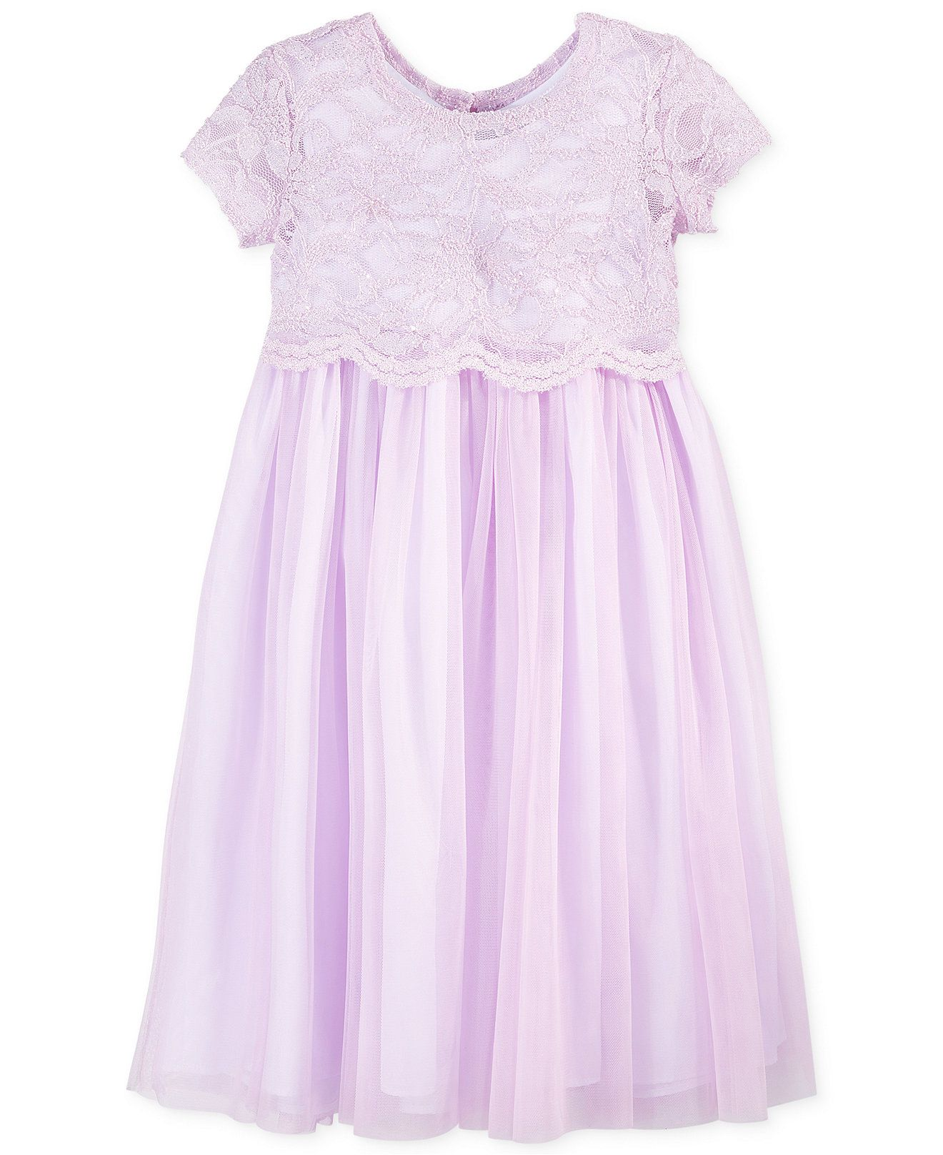 Bella by Marmellata Little Girls Lace Popover Dress Kids Girls