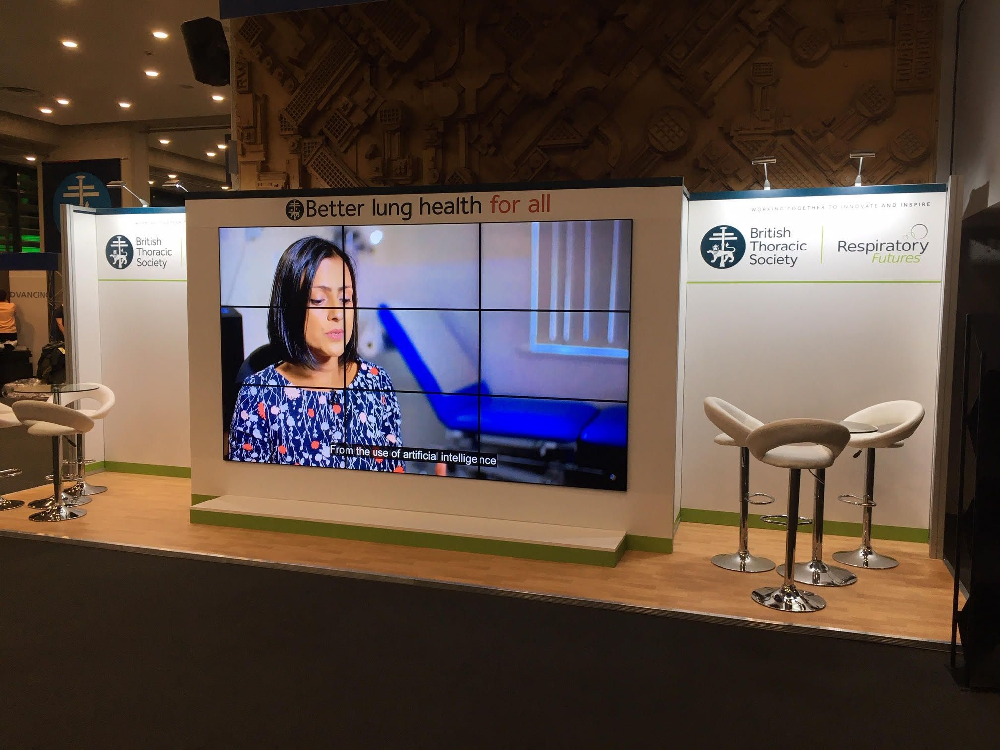 Here's our #exhibitionstand for the British Thoracic Society BTS Winter Meeting, which takes place in #London from December 4-6. We love working with them - it's a great event.   #BTSWinter2019 #exhibitiondesign #exhibitions #marketing