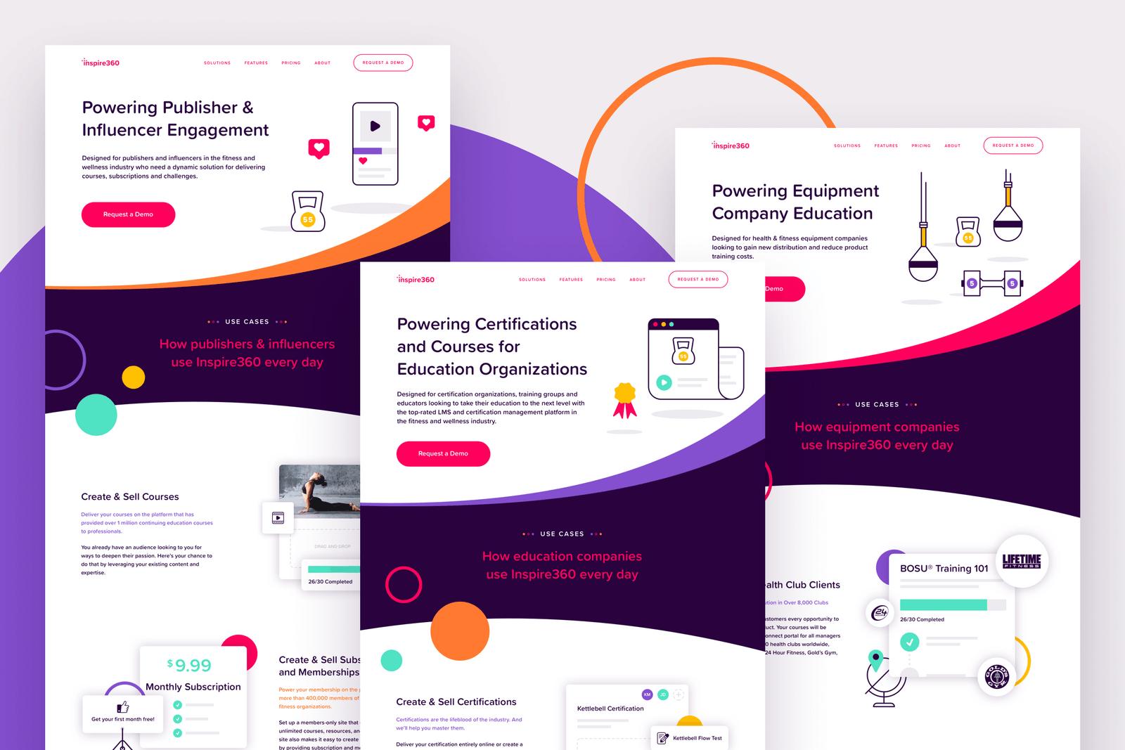 Inspire360 Brass Hands Teachable Web Design Graphic Design
