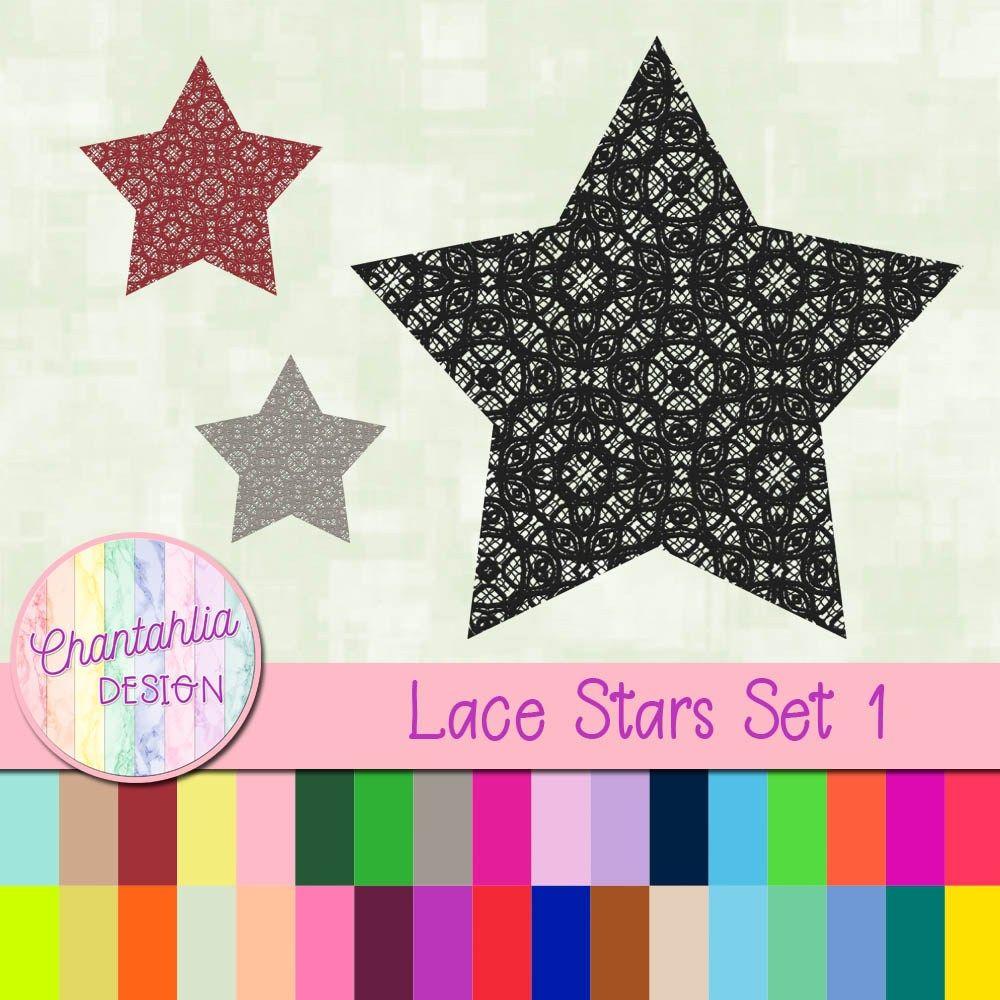 Free Digital Star Embellishment N A Lace Design 36 Colours 300dpi Us Free Digital Scrapbooking Paper Free Digital Scrapbooking Digital Scrapbooking Freebies