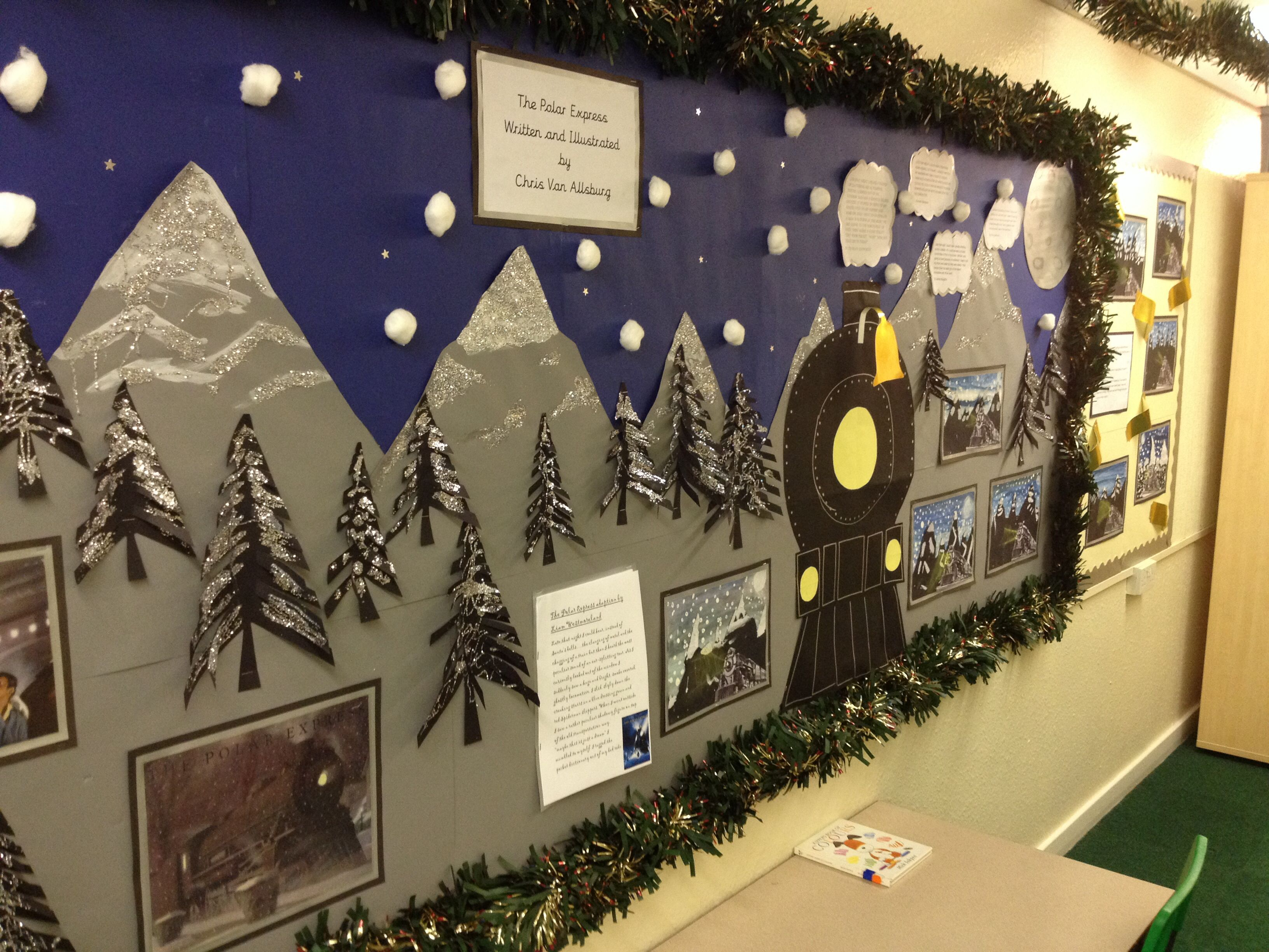 Polar Express Display In Hall The More