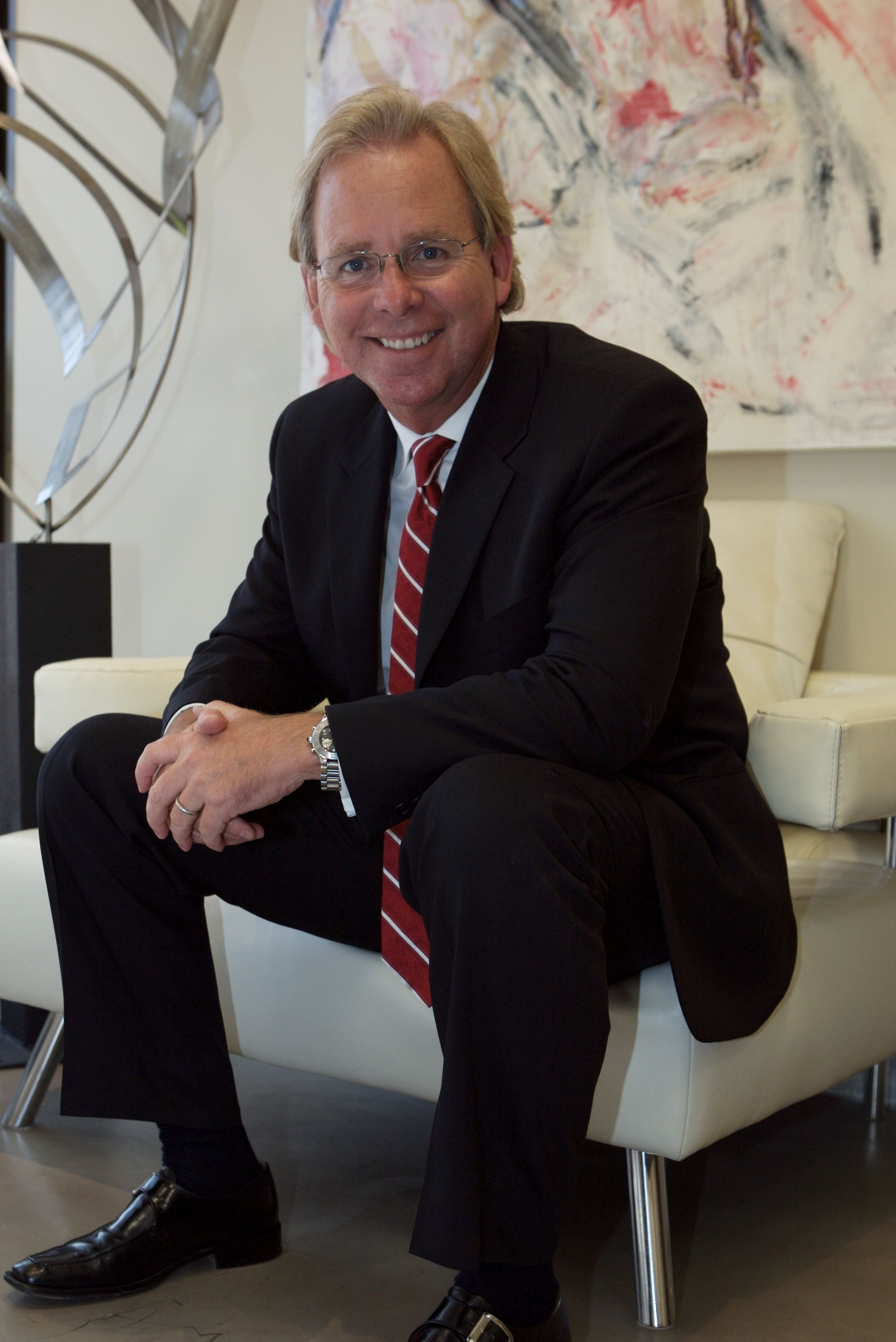 Brian chase in his newport beach office beach office