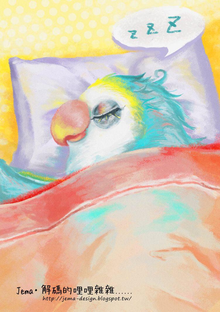 Sleeping parrot illustrator http://jema-design.blogspot.tw/2014/09/xx.html
