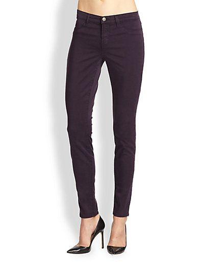 1793f4b3457e J Brand - Luxe Sateen Mid-Rise Skinny Jeans - Saks.com
