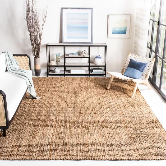 Grassmere Hand Woven Flatweave Natural Rug In 2020 Jute Area Rugs Jute Rug Living Room Chunky Jute Rug