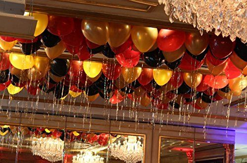 Amazon Com Grandshop 50531 Toy Balloons Metallic Hd Red Gold
