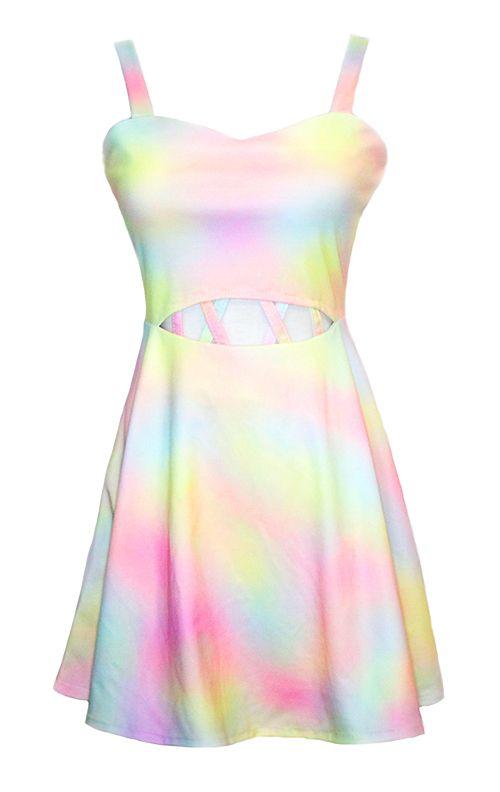 Pastel Candy Cut Out Dress