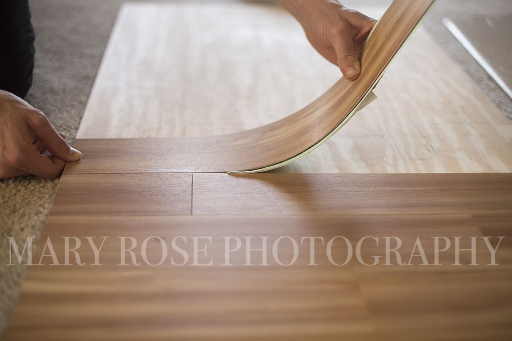 DIY Photography Backdrop And Faux Wood Floor By Mary Rose - Faux wood floor plywood flooring