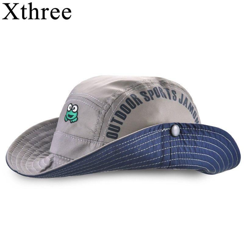 2636e424f51637 Xthree New Summer bucket hat cap kids cowboy baby boy hat casquette garcon  sun hat for