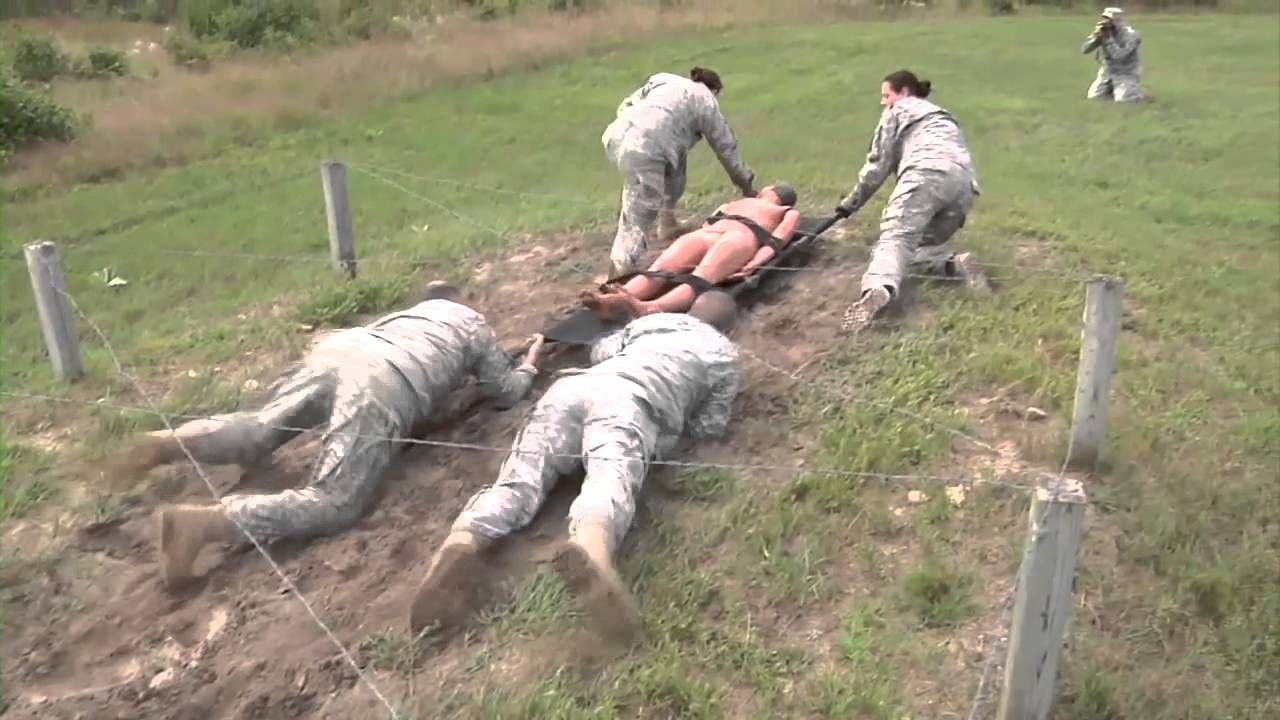 Combat Medics Maneuver Litter Obstacle Course