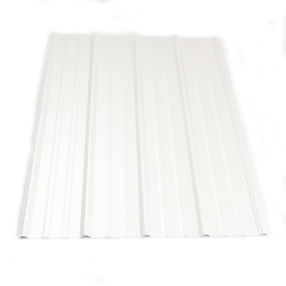 12 Ft Classic Rib Steel Roof Panel In Bright White Steel Roof Panels Metal Roof Panels Roof Panels