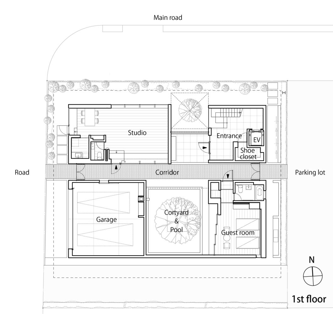 Gallery Of Roadside House K S Architects 19 Architect Ground Floor Plan House