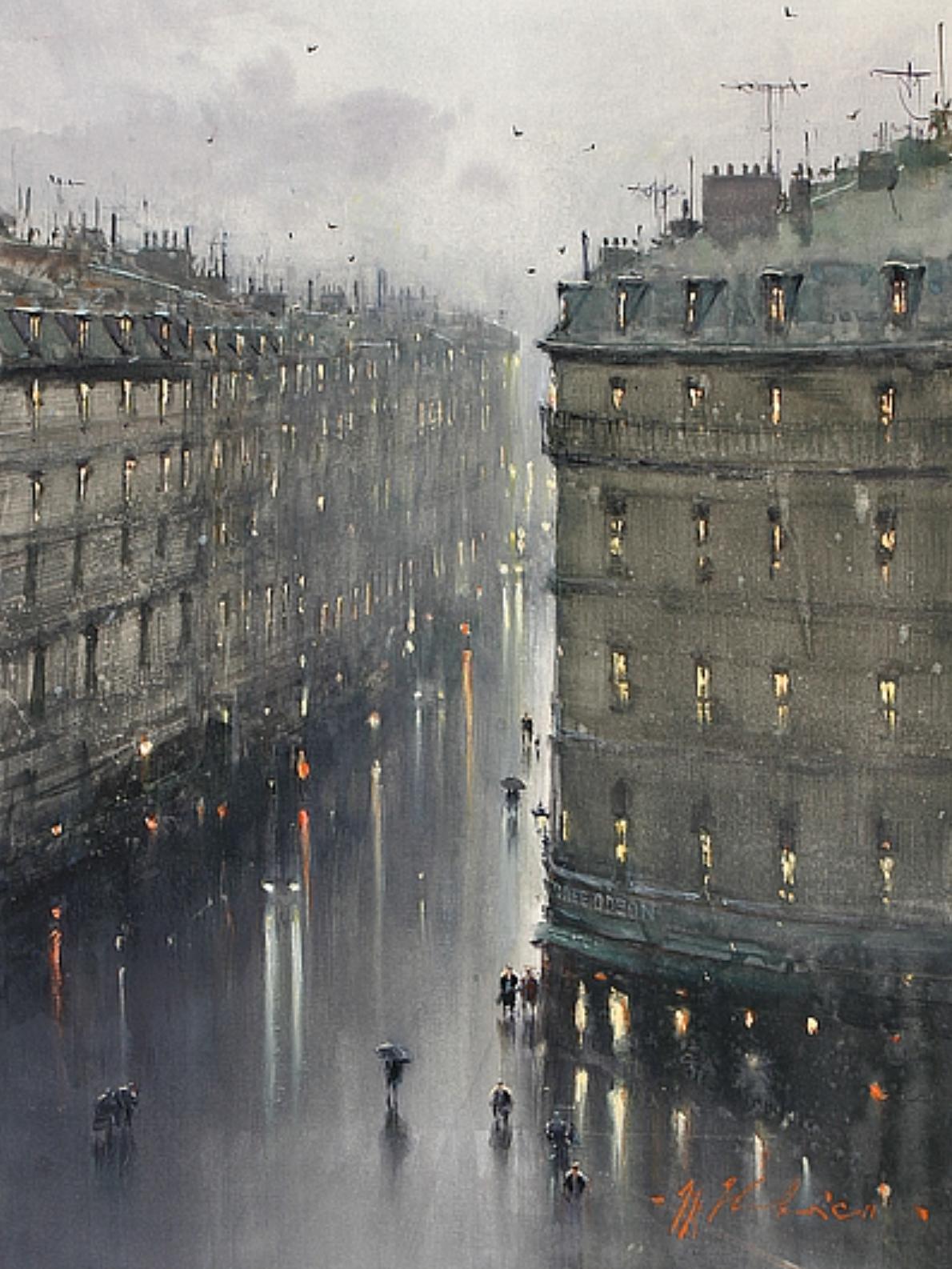 Joseph Zbukvic B 1952 Zagreb Croatia Paris In The Rain Art And Architecture Beautiful Art Painting