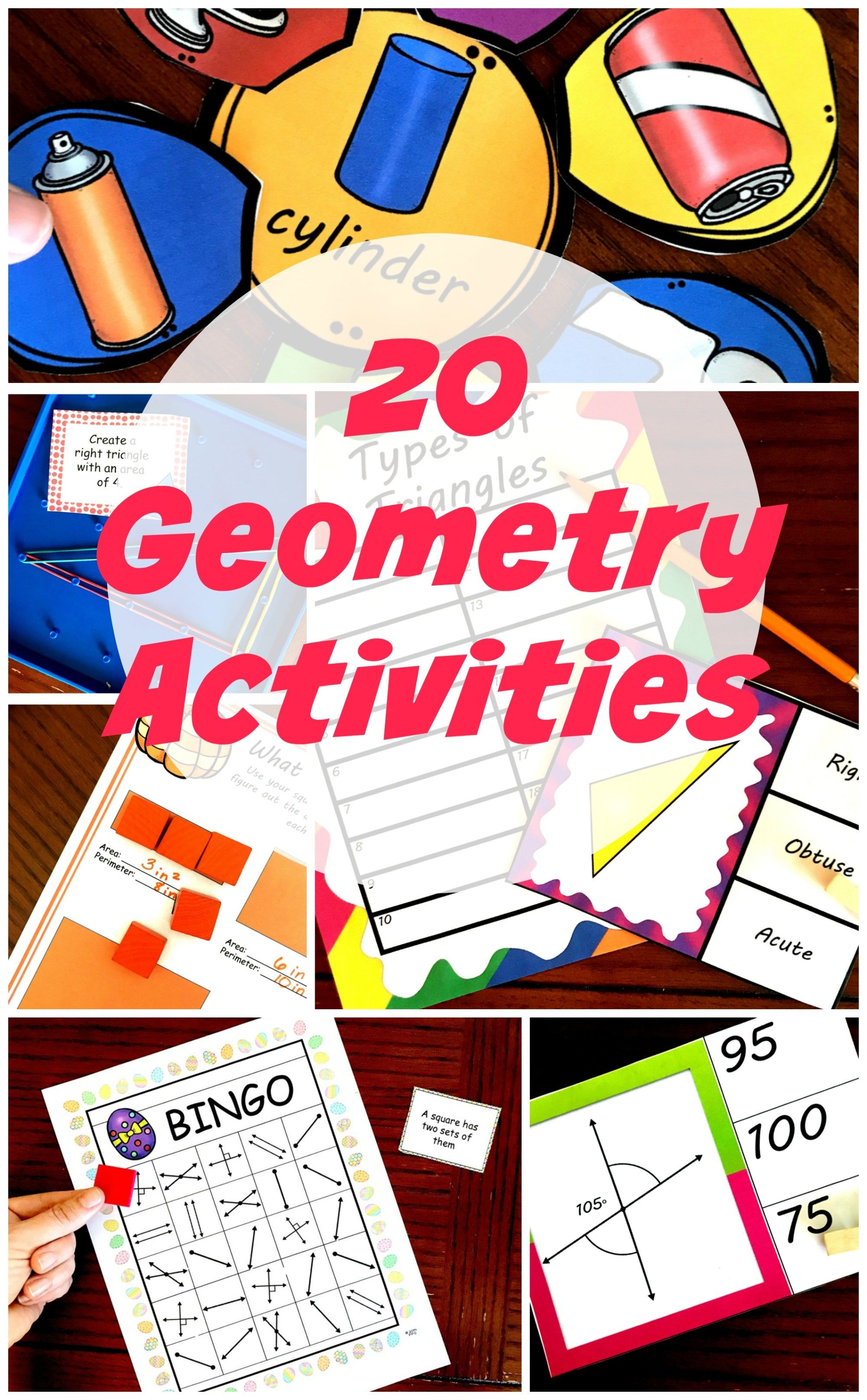 20 Free Hands On Geometry Activities For K