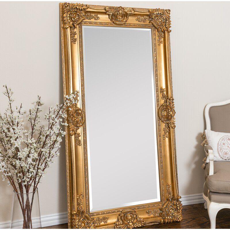 Beaston Leaner Beveled Full Length, Baroque Gold Floor Mirror