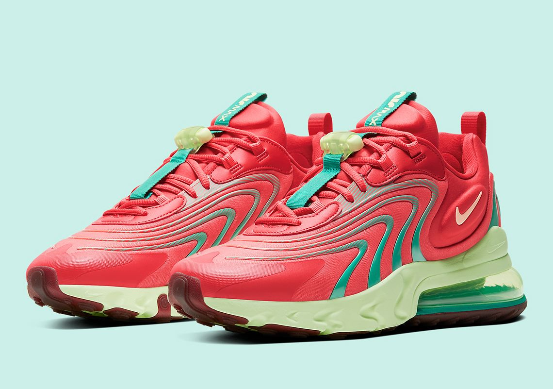 Bright Watermelon Colors Hit The Nike Air Max 270 React Eng In 2020