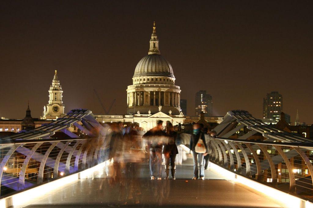 """People on the Millennium Bridge"" by MarkSWF."