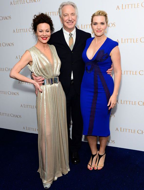 6c2f5d6bab7 Kate Winslet puts on a busty display in chic blue dress at UK ...