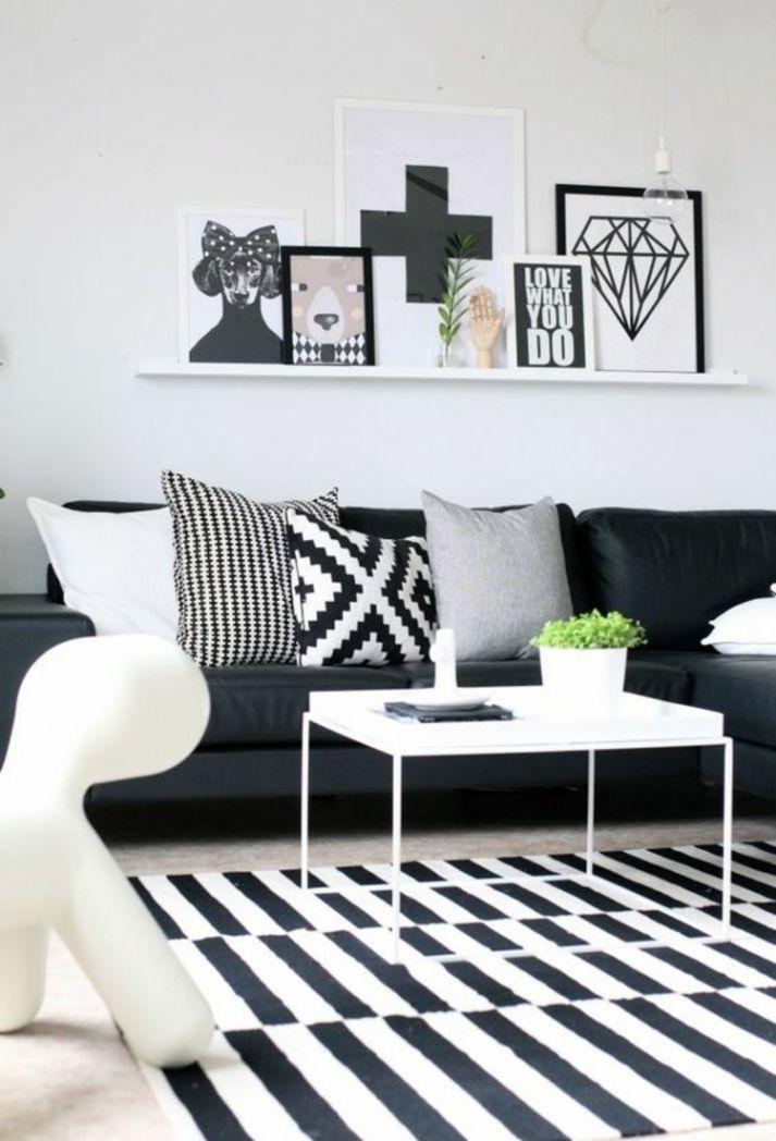 Neu Dekoration Wohnzimmer Schwarz Weiß | Wohnwand | Pinterest