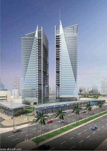 برجي العليا مكتمل Architecture Facade Building