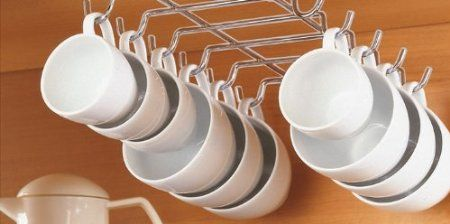 Amazon.com: CHROME UNDER SHELF CUP HOLDER (HOLDS UP TO 12 CUPS!): Everything Else