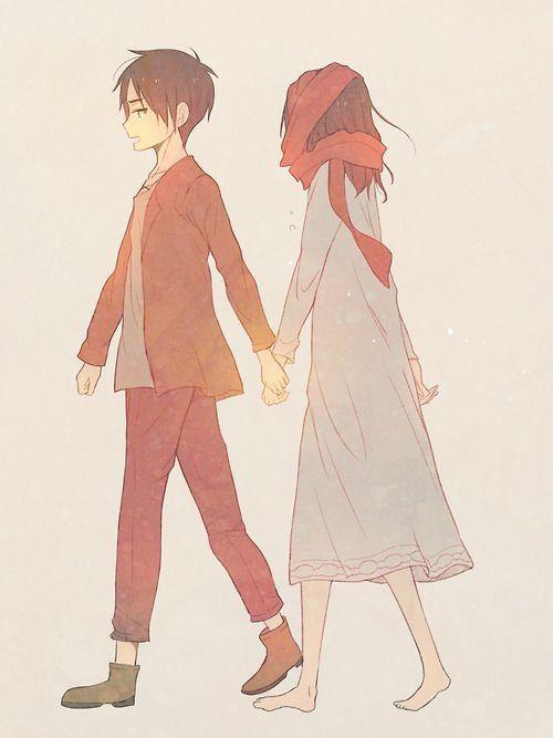 Anime/manga: SNK Characters: Eren and Mikasa