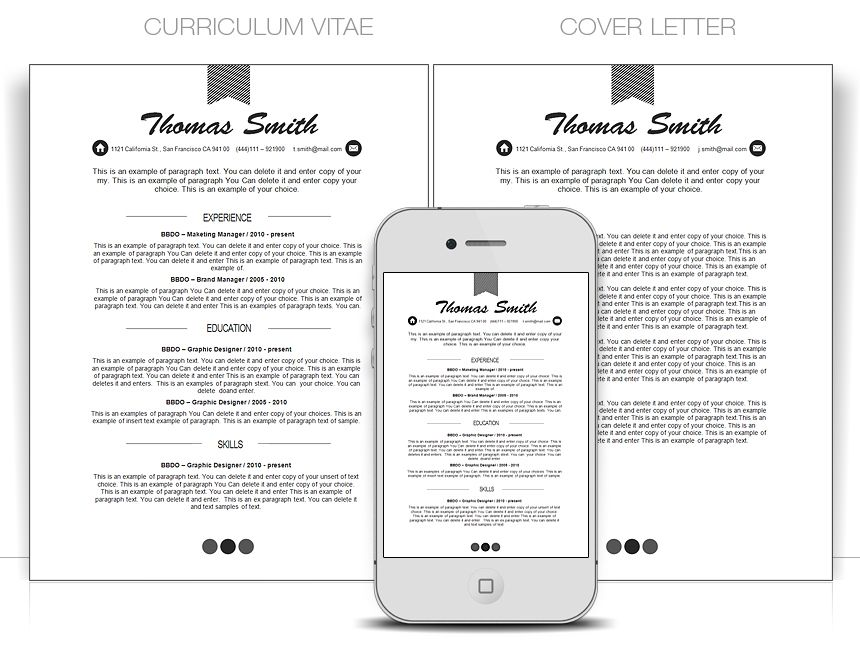 CV, Curriculum Vitae, CV Word Templates - Edit with MS Word CV
