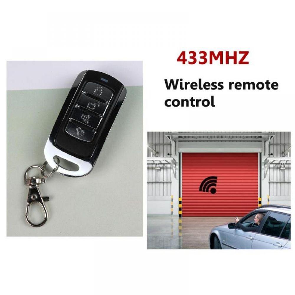 433mhz 12v 4 ch buttons garage door opener remote copy