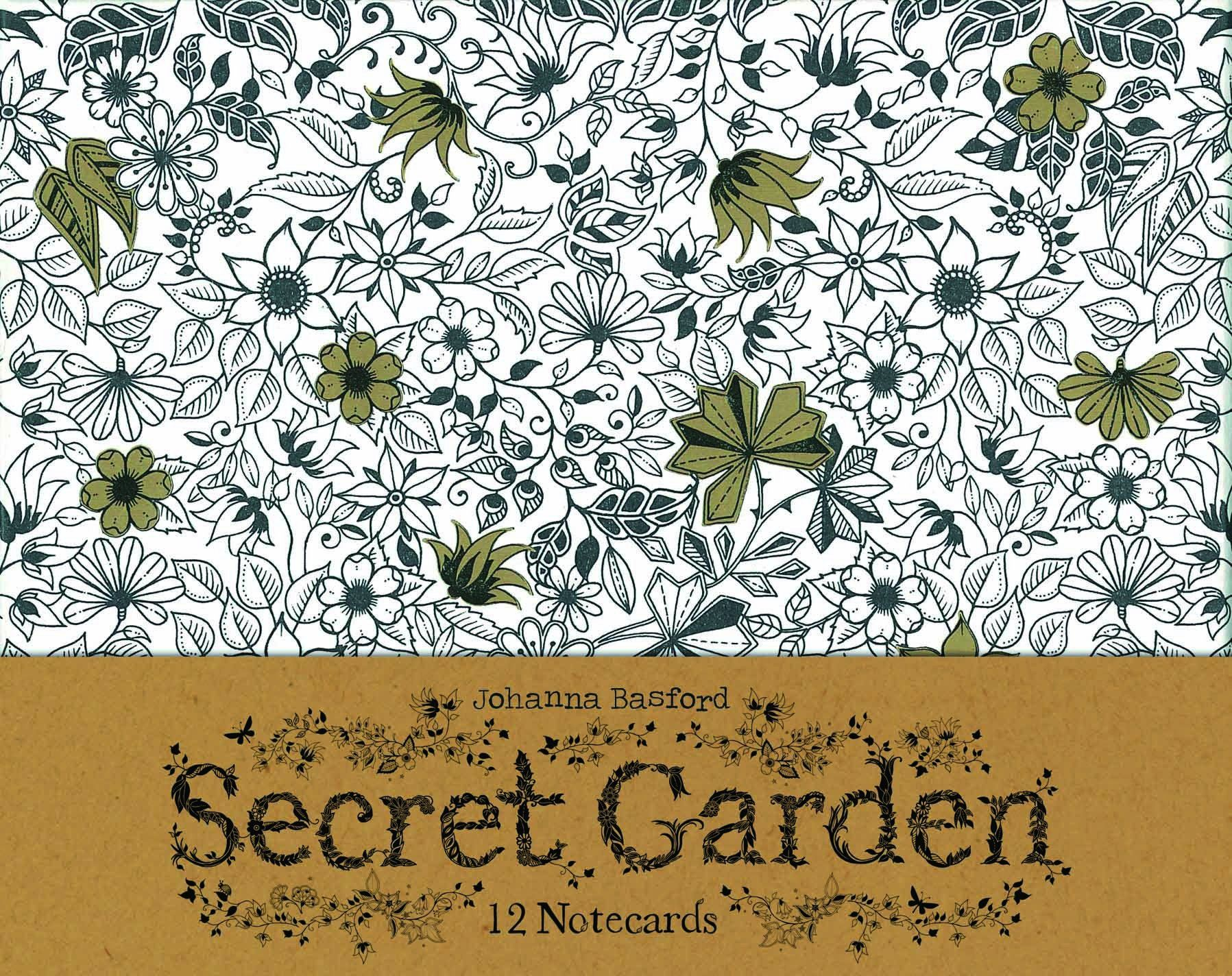 Secret Garden 12 Notecards Johanna Basford BooksAdult ColoringColoring