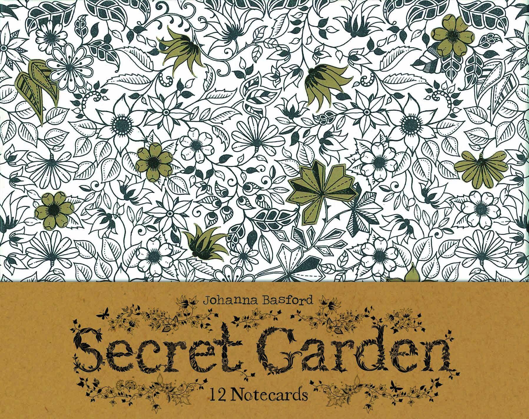 Secret Garden 12 Notecards Johanna Basford 9781856699471 Amazon Books