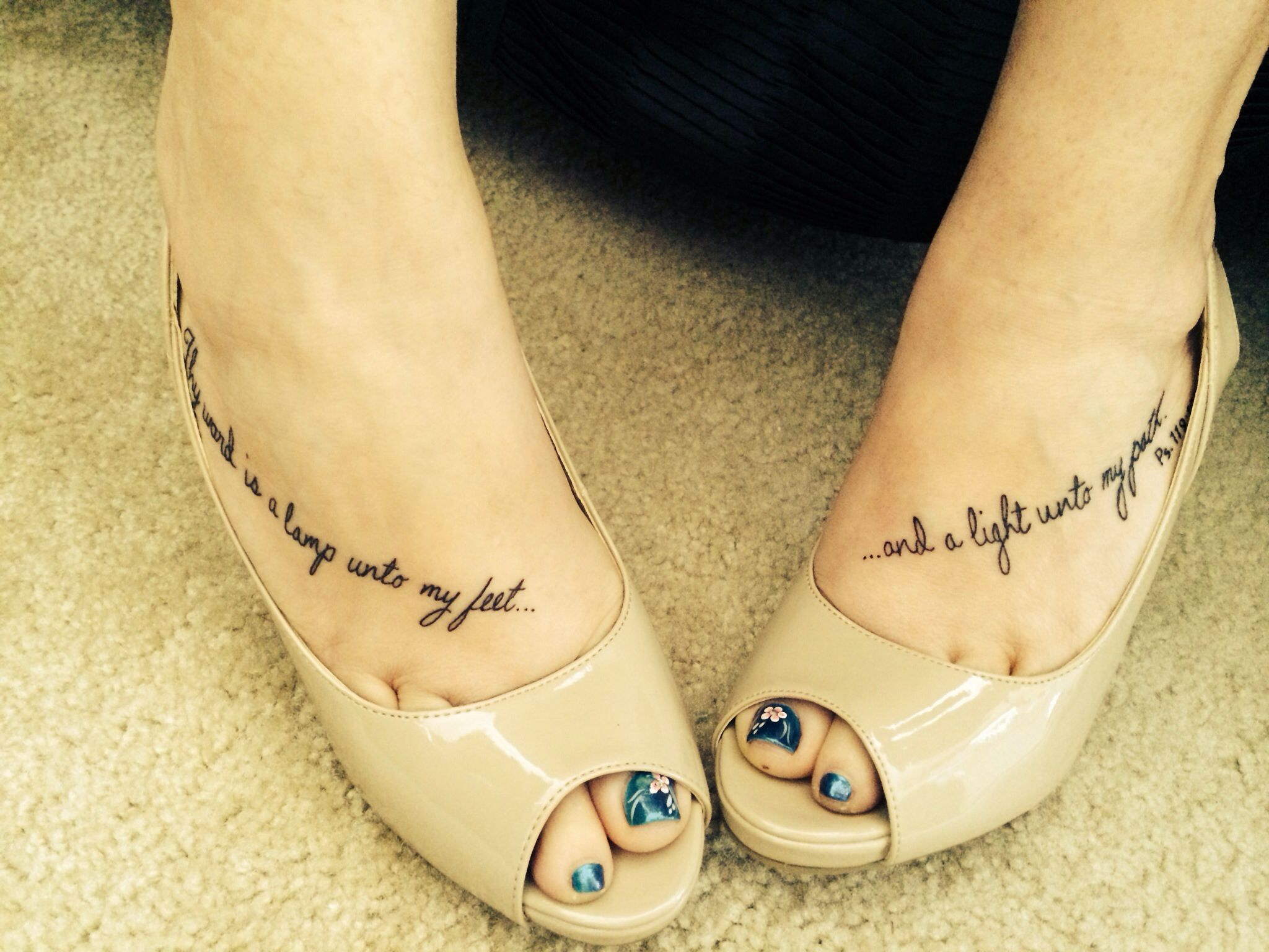 bible quote tattoos on foot - photo #2