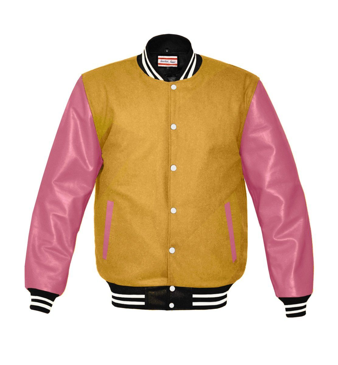 luvsecretlingerie Superb Genuine Yellow Leather Sleeve Letterman College Varsity Kid Wool Jackets