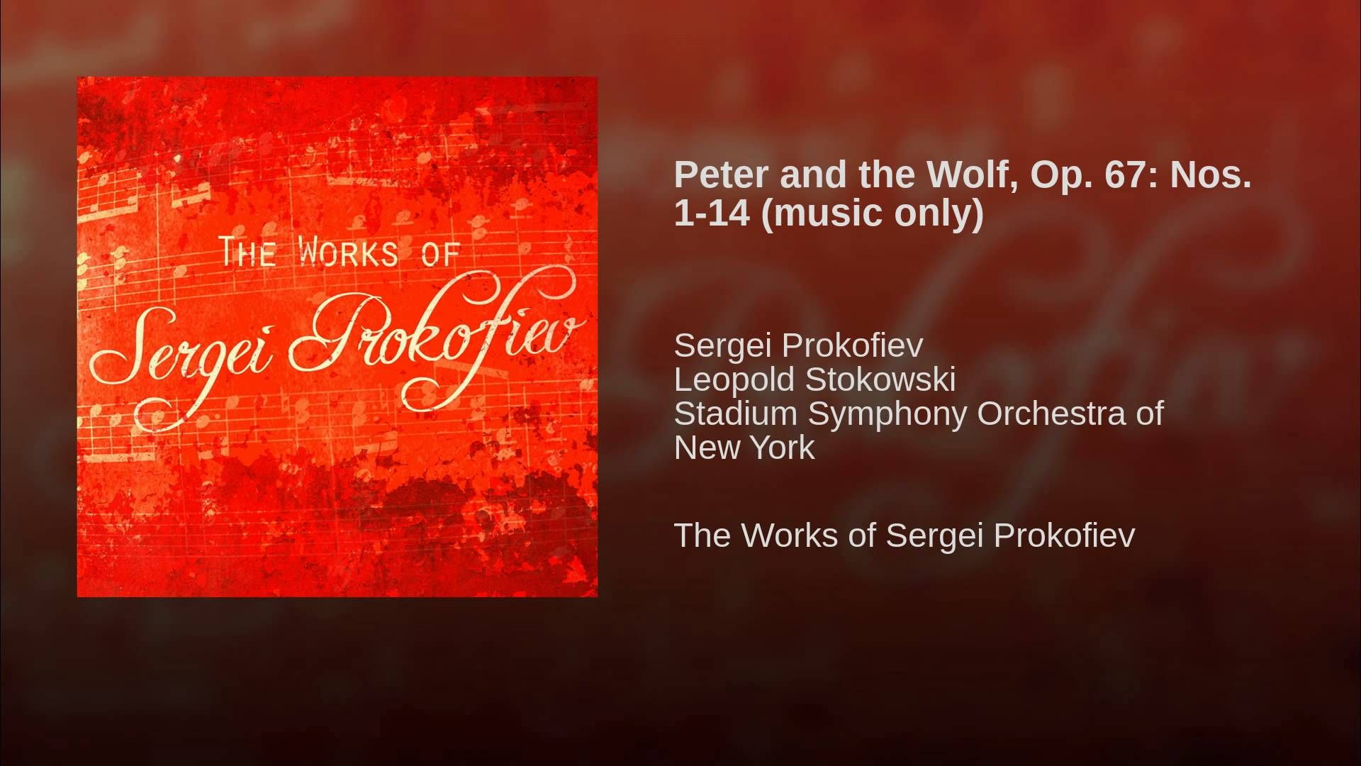 Peter And The Wolf Op 67 Nos 1 14 Music Only