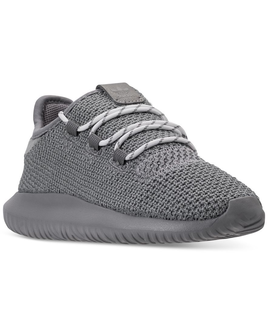 76740b1a7ce7 Upgrade his style with the running-inspired look and feel of the adidas Big  Boys  Tubular Shadow Casual Sneakers. Featuring a minimal-style upper and  inner ...