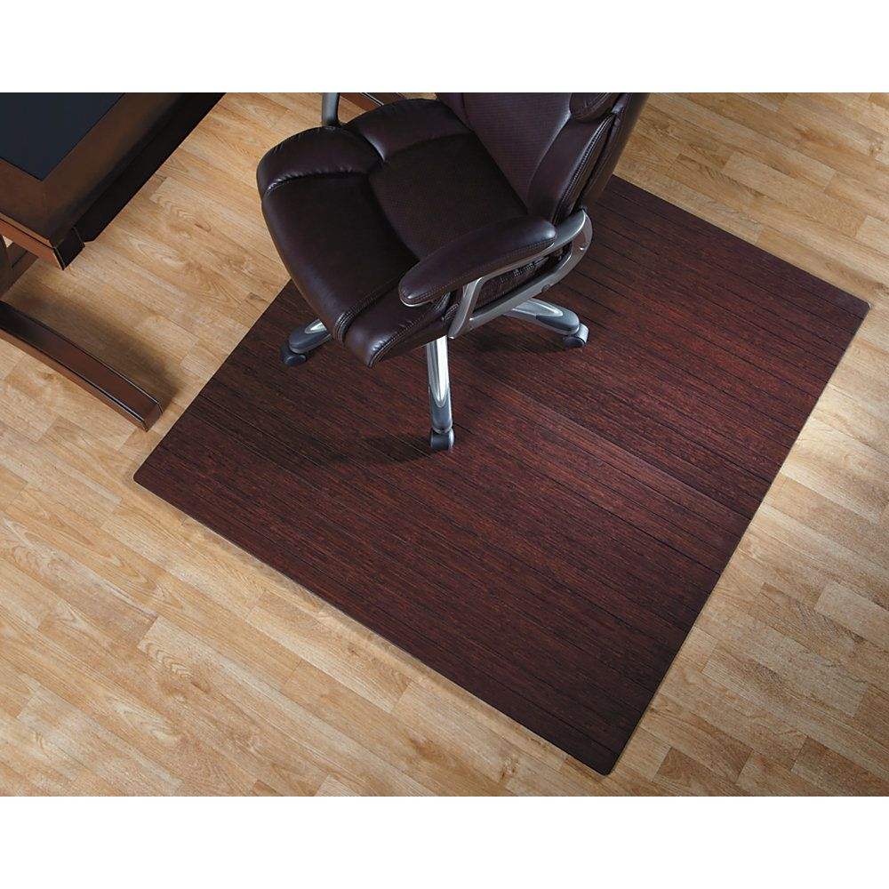 Incredible Realspace Bamboo Chair Mat 36W X 48D 3 16 Thick Dark Machost Co Dining Chair Design Ideas Machostcouk