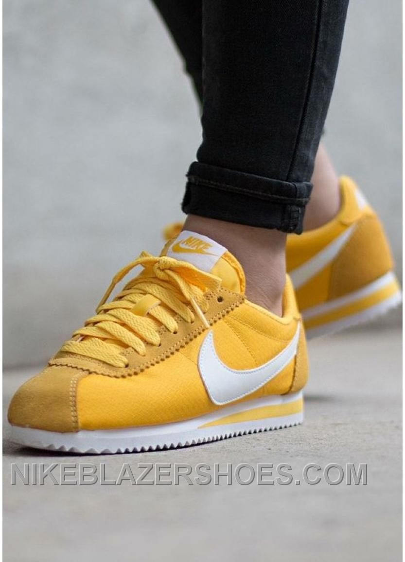 Nike Cortez Womens Yellow Black Friday Deals 2016 XMS1889  Free ... 2c63030eb1