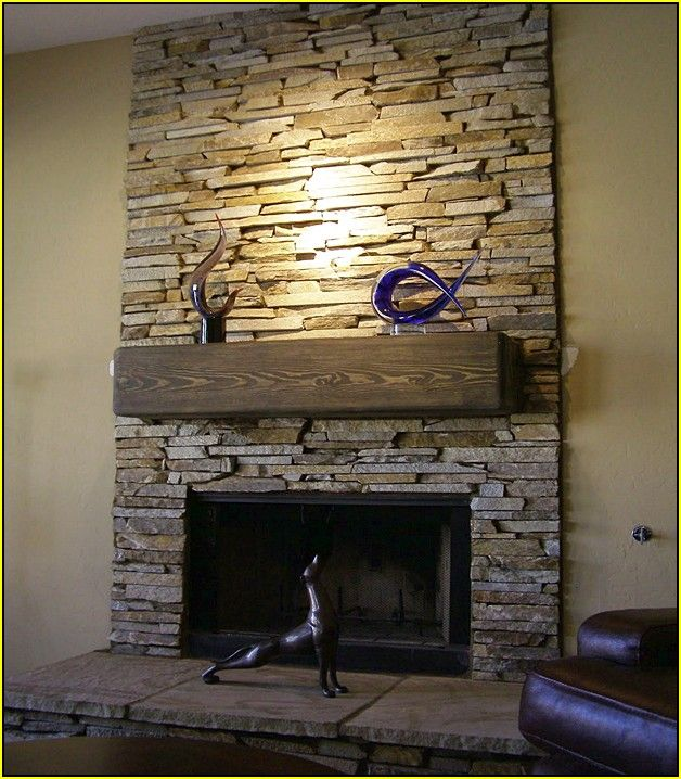 build the stone tile fireplace 36