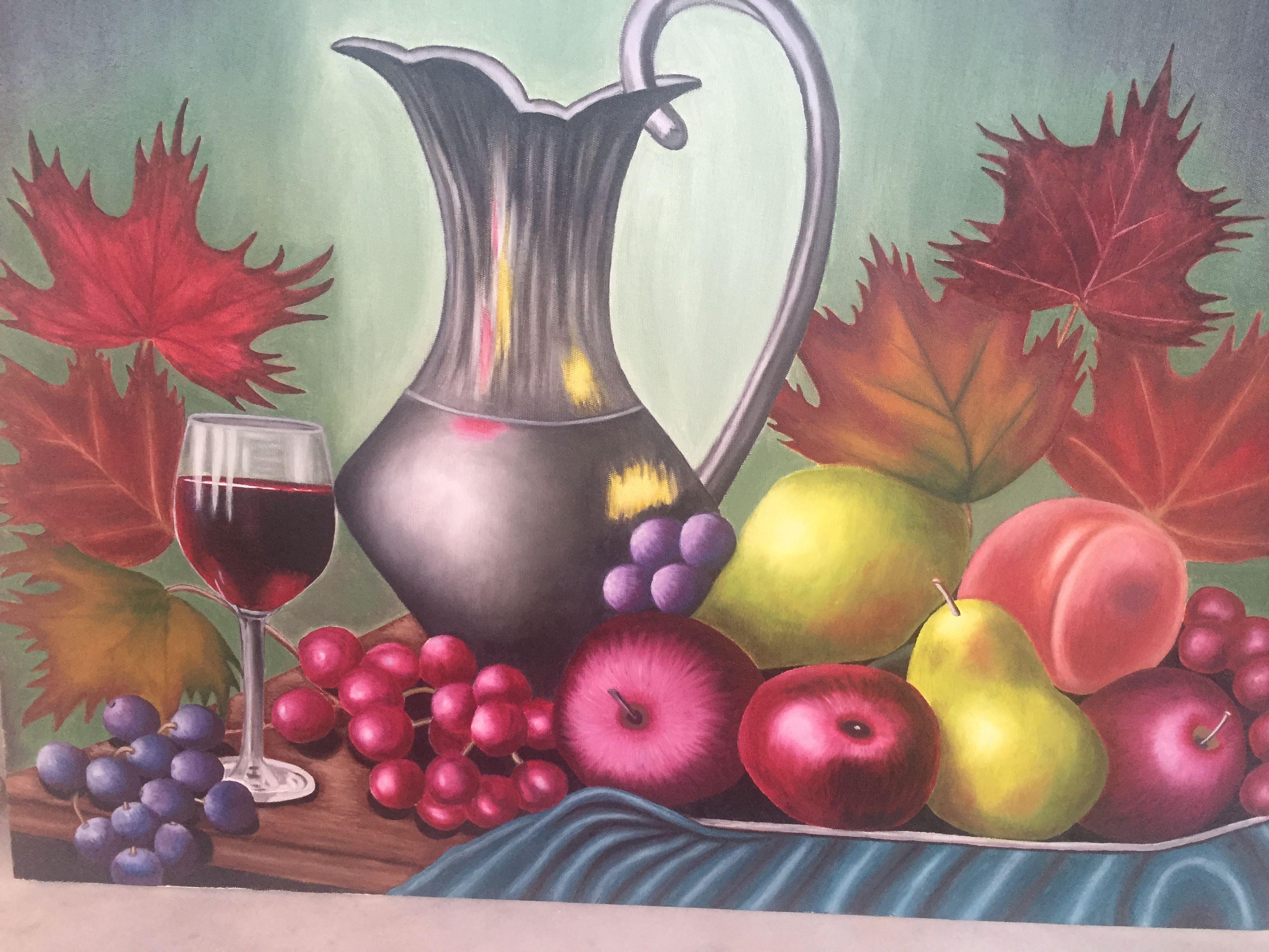 Yağlı Boya Meyve Tabağı Yağlı Boya Resimlerim Painting Ve Art