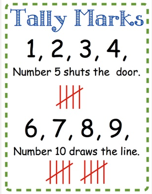 Image result for tally marks rhyme