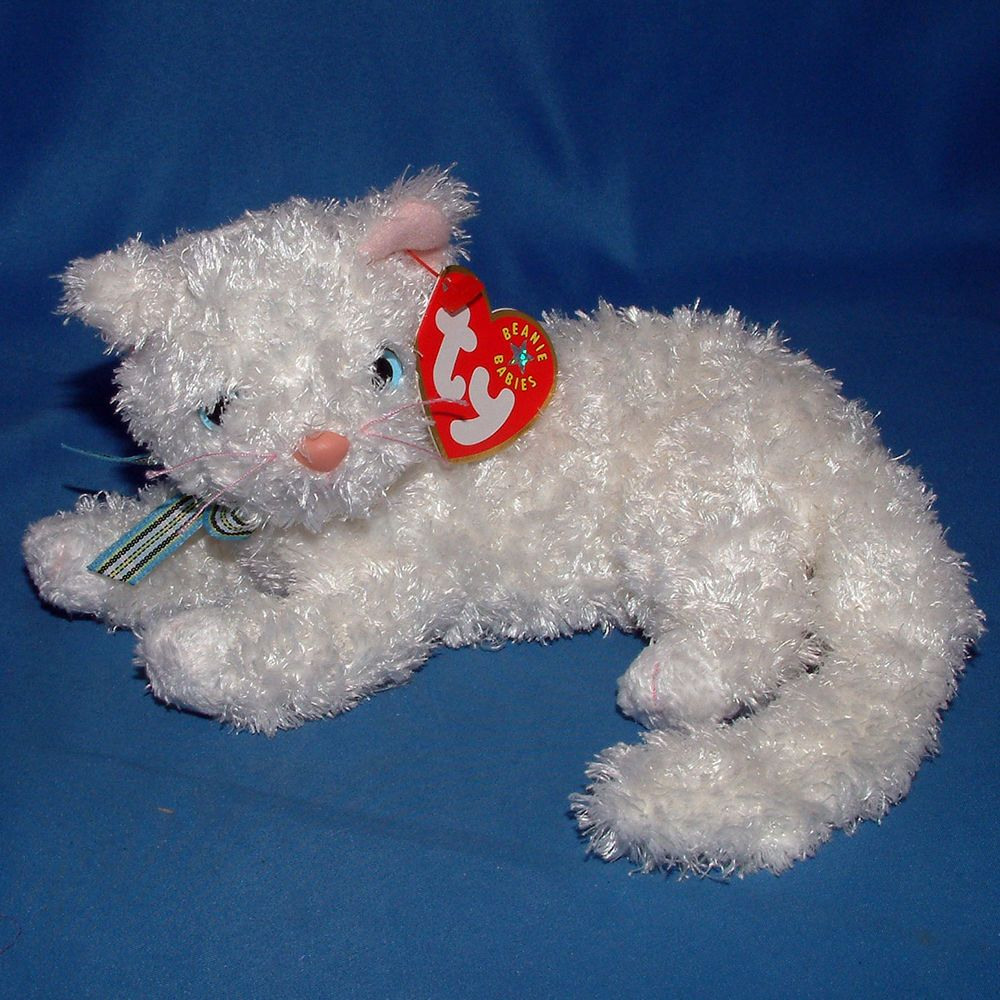 2001 Ty Beanie Buddies Pounce The Cat Large Sized Beanie