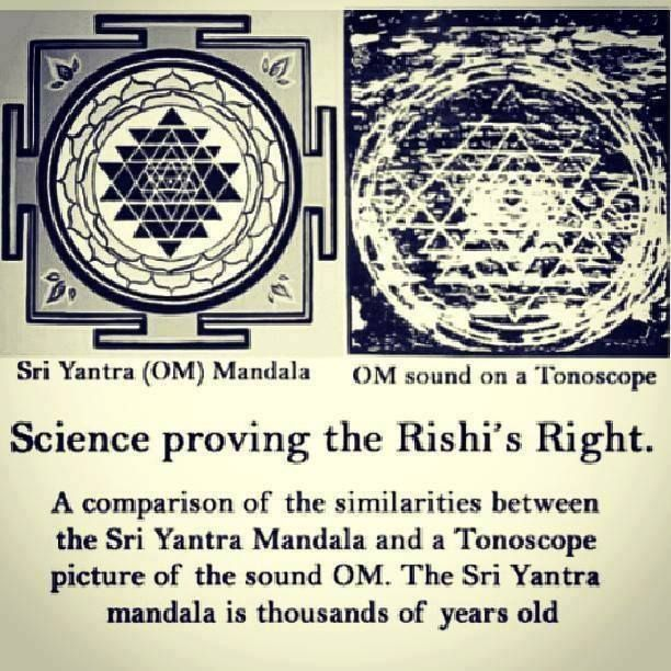 Sri Yantra, the sound of OM as shown on a Tonoscope | We Are