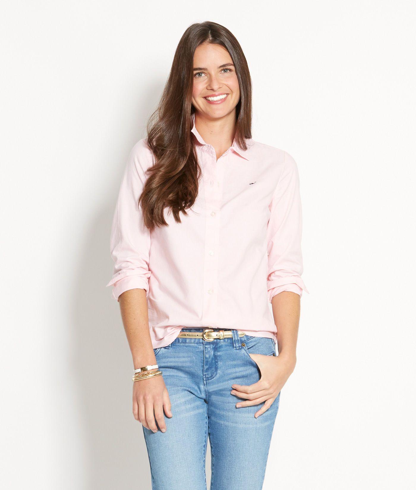 e41b5a7e2 Women's Button down Shirts: White Oxford shirt for Women – Vineyard Vines