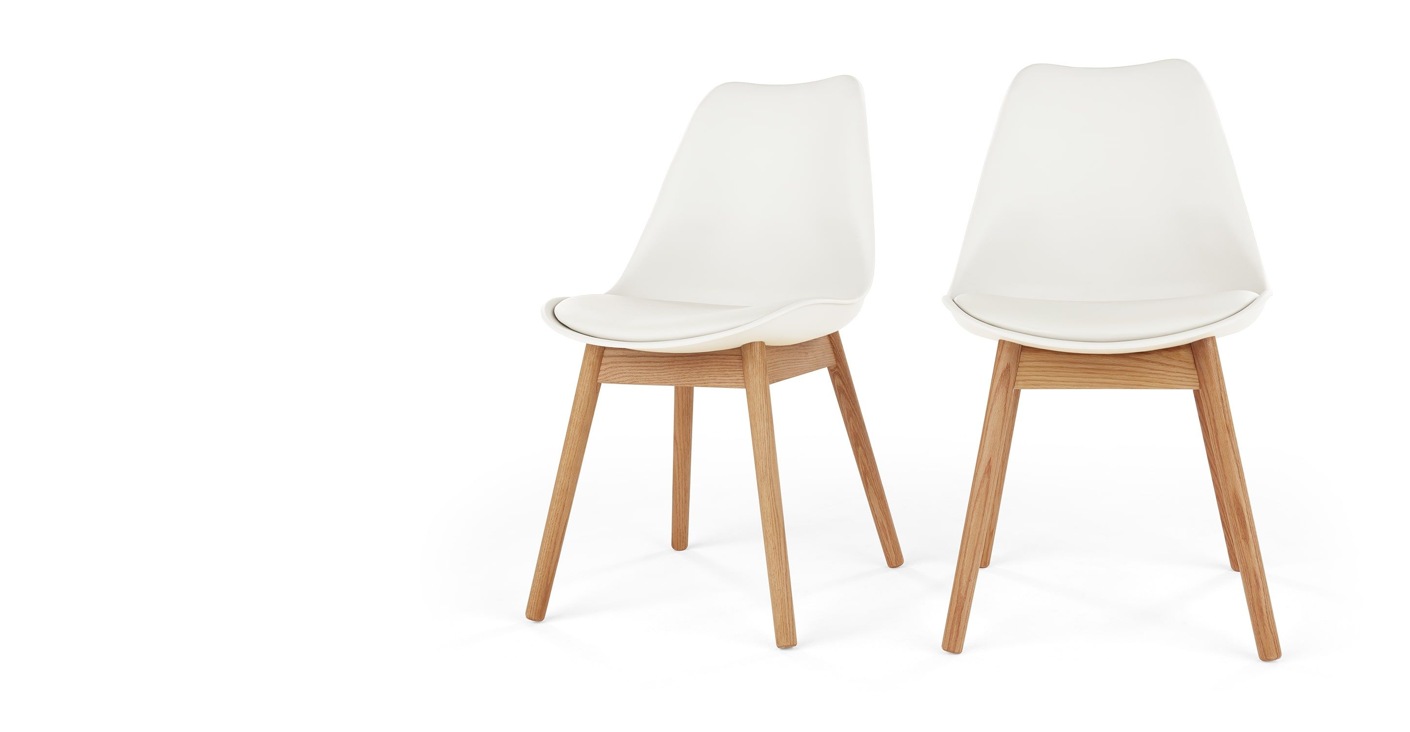 2 X Thelma Esszimmerstühle, Eiche Und Weiß   MADE.COM | Küche Und Esszimmer