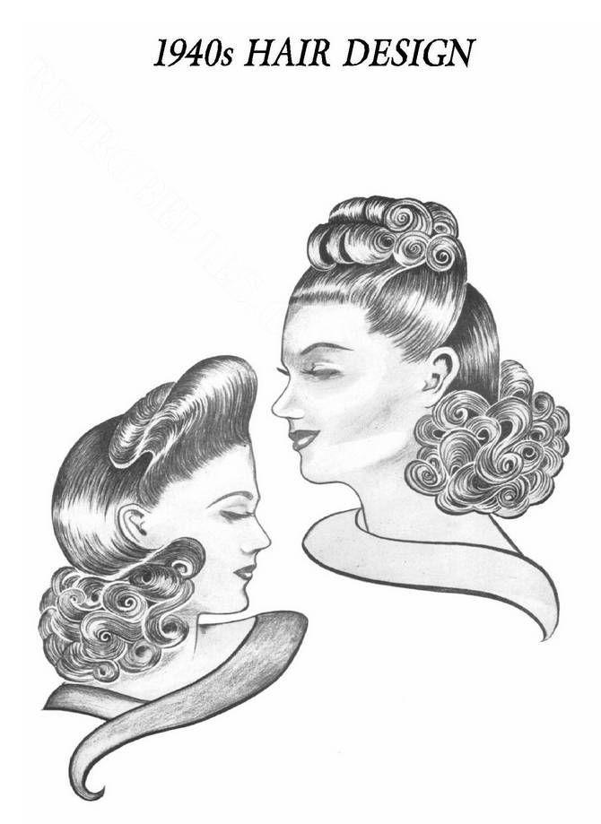 1940s Hair Design 150 Page Pdf Book Vintage Hair Hair Styles